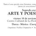 Patrocinio segundo encuentro de arte y poesía erótica de La Florida