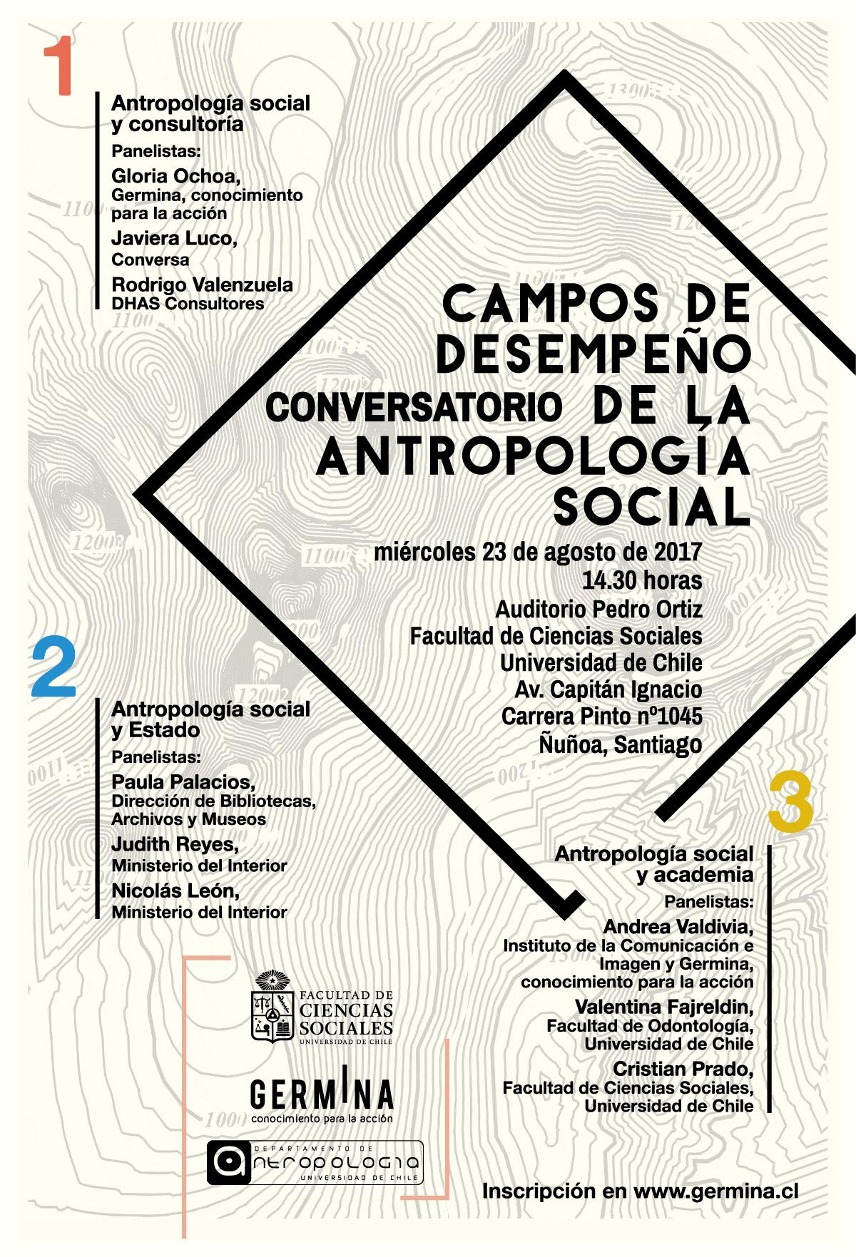 conversatorio campos desempeño antropología - universidad de chile - germina
