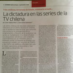 La dictadura en las series de la TV chilena